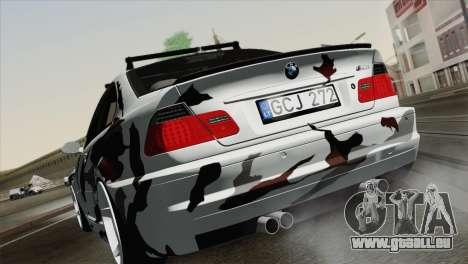 BMW M3 E46 Camo für GTA San Andreas linke Ansicht