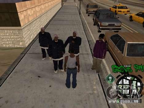 C-HUD Groove Street für GTA San Andreas zweiten Screenshot