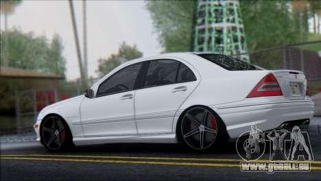 Mercedes-Benz C32 Vossen pour GTA San Andreas laissé vue
