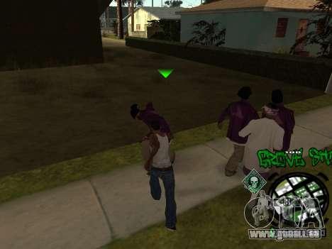 C-HUD Groove Street für GTA San Andreas her Screenshot
