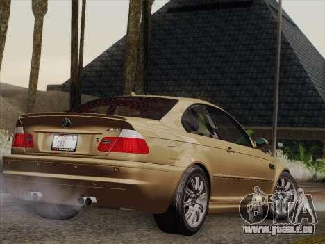 BMW M3 E46 2005 pour GTA San Andreas vue de droite