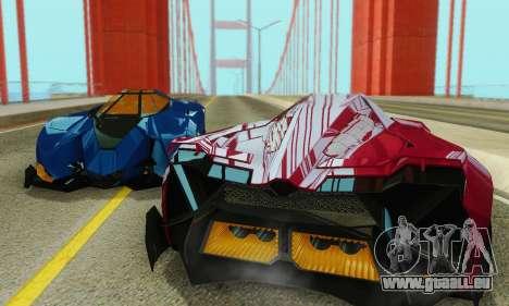 Lamborghini Egoista für GTA San Andreas obere Ansicht