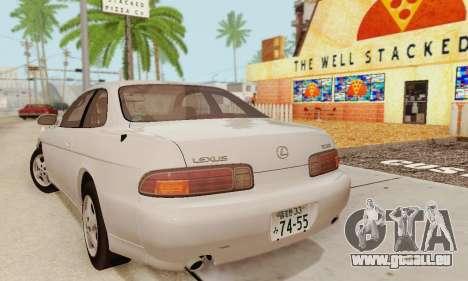 Lexus SC300 v1.01 [ImVehFT] pour GTA San Andreas sur la vue arrière gauche