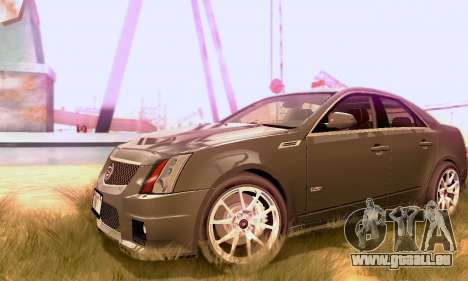 Cadillac CTS-V Sedan 2009-2014 pour GTA San Andreas vue arrière