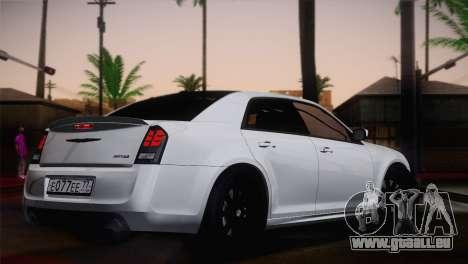 Chrysler 300 SRT8 Black Vapor Edition pour GTA San Andreas laissé vue