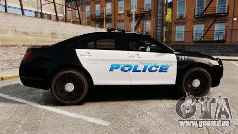 Ford Taurus Police Interceptor 2013 [ELS] pour GTA 4 est une gauche