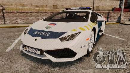 Lamborghini Huracan Hungarian Police [ELS] pour GTA 4