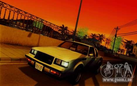 ENBSeries pour les faibles PC v2 [SA:MP] pour GTA San Andreas quatrième écran