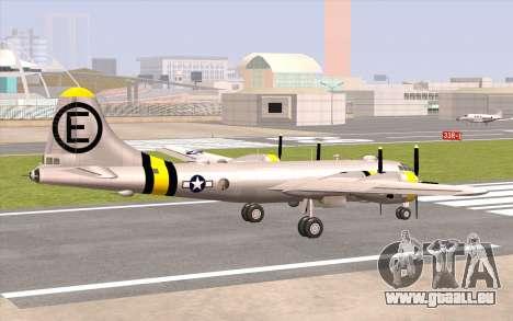 B-29A Superfortress pour GTA San Andreas laissé vue