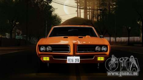 Pontiac GTO The Judge Hardtop Coupe 1969 für GTA San Andreas Rückansicht