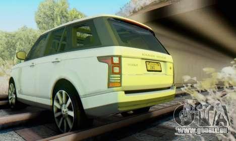 Range Rover Vogue 2014 V1.0 Interior Nero pour GTA San Andreas vue intérieure