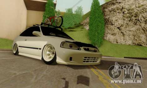 Honda Civic ek Coupe Hellaflush pour GTA San Andreas