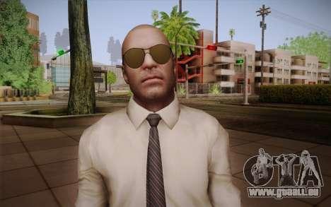 Agent spécial Jason Hudson из CoD: Black Ops pour GTA San Andreas troisième écran