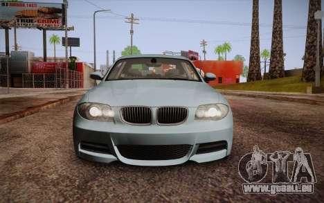 BMW 135i Limited Edition pour GTA San Andreas vue de dessus