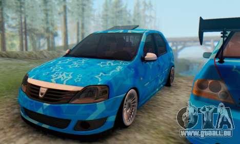 Dacia Logan Blue Star für GTA San Andreas Innenansicht