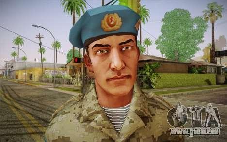 Le caporal VDV pour GTA San Andreas troisième écran