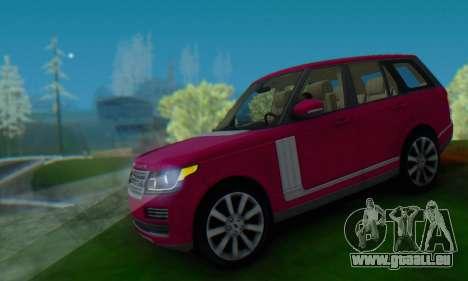 Range Rover Vogue 2014 V1.0 SA Plate pour GTA San Andreas vue arrière