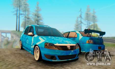 Dacia Logan Blue Star für GTA San Andreas linke Ansicht