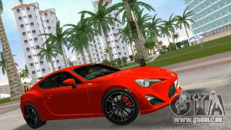 Toyota GT86 pour une vue GTA Vice City de la droite