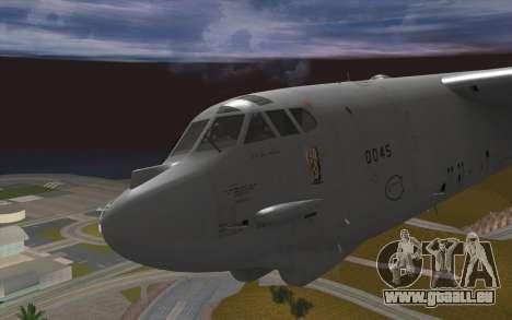 Boeing B-52H Stratofortress pour GTA San Andreas vue arrière