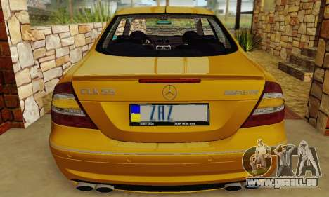 Mercedes-Benz CLK55 AMG 2003 pour GTA San Andreas vue de côté