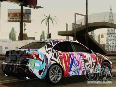 Lexus IS350 FSPORT Stikers Editions 2014 pour GTA San Andreas laissé vue