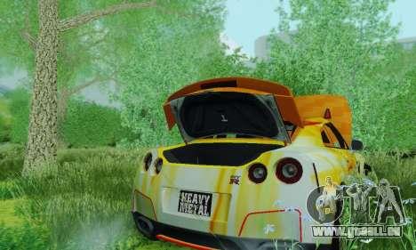 Nissan GTR Heavy Fire für GTA San Andreas Rückansicht