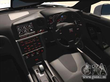 Nissan GTR-R35 Spec-V pour GTA San Andreas vue intérieure