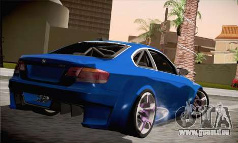 BMW M3 E92 SHDru Tuning pour GTA San Andreas laissé vue