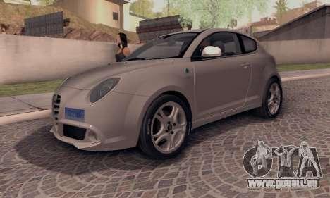 Afla Romeo Mito Quadrifoglio Verde für GTA San Andreas zurück linke Ansicht