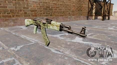 L'AK-47 Vert camo pour GTA 4