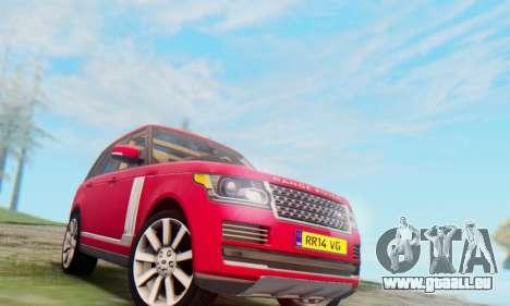 Range Rover Vogue 2014 V1.0 UK Plate für GTA San Andreas