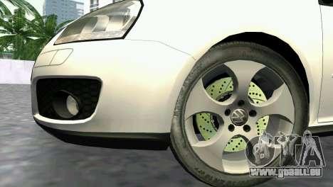 Volkswagen Golf V GTI pour une vue GTA Vice City de la droite