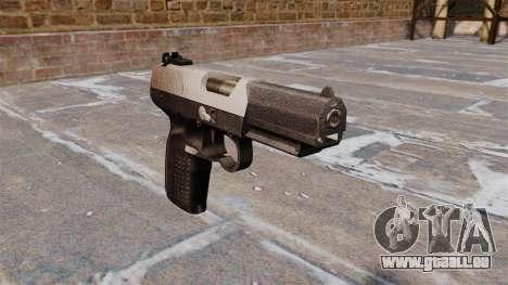 Pistolet FN Cinq à sept Chrome pour GTA 4