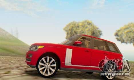 Range Rover Vogue 2014 V1.0 UK Plate für GTA San Andreas rechten Ansicht