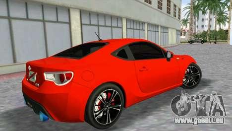 Toyota GT86 pour une vue GTA Vice City de la gauche