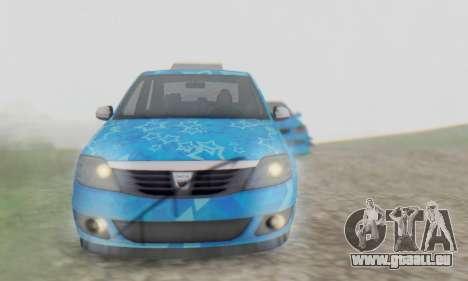 Dacia Logan Blue Star für GTA San Andreas obere Ansicht