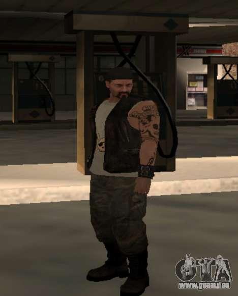 Motard de la part du club des Routes Anges pour GTA San Andreas quatrième écran