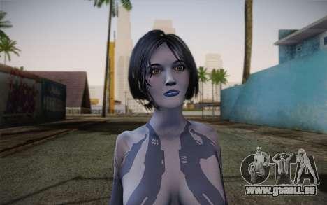 Cortana from Halo 4 pour GTA San Andreas troisième écran