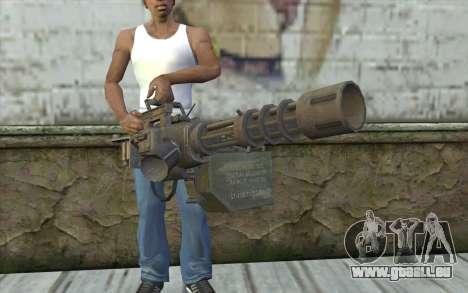 Minigun avec un magasin pour GTA San Andreas troisième écran