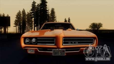 Pontiac GTO The Judge Hardtop Coupe 1969 pour GTA San Andreas vue de côté