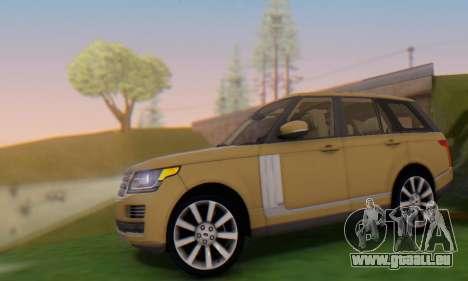 Range Rover Vogue 2014 V1.0 SA Plate pour GTA San Andreas laissé vue