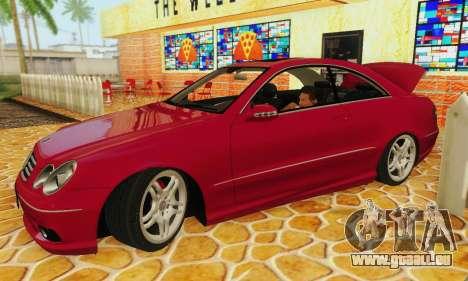 Mercedes-Benz CLK55 AMG 2003 pour GTA San Andreas vue arrière
