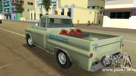 Chevrolet Apache Fleetside 1958 pour GTA Vice City sur la vue arrière gauche