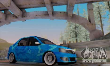 Dacia Logan Blue Star pour GTA San Andreas salon