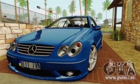 Mercedes-Benz CLK55 AMG 2003 pour GTA San Andreas sur la vue arrière gauche