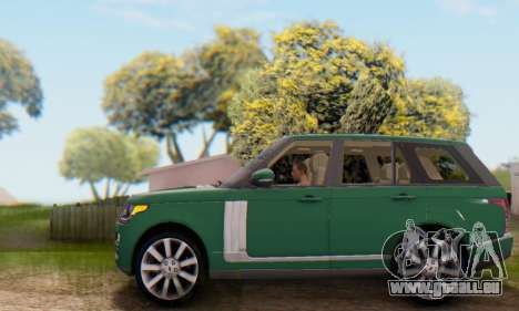 Range Rover Vogue 2014 V1.0 UK Plate für GTA San Andreas obere Ansicht