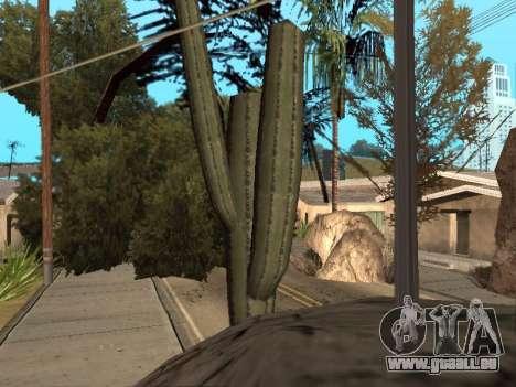Dschungel auf einer Straße Aztec für GTA San Andreas dritten Screenshot