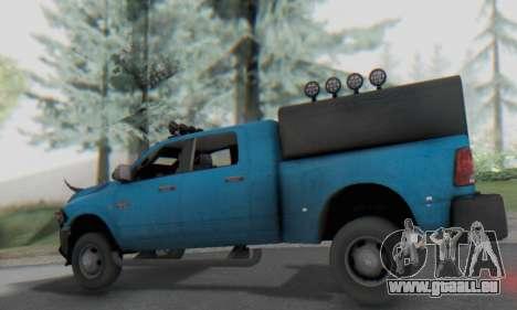 Dodge Ram 3500 Super Reforzada pour GTA San Andreas vue arrière