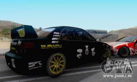 Subaru Impreza WRC STI Black Metal Rally für GTA San Andreas linke Ansicht